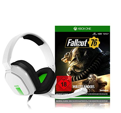 ASTRO Gaming A10 Gaming-Headset (weiß/grün) + Fallout 76 (inkl. Wastelanders) - [Xbox One]
