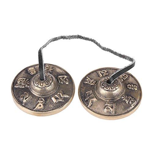 Boeddhisme Handgemaakte Messing Vinger Cymbals Klokken, Tibetaanse Bell Boeddhistische Religieuze Muziek Apparaat, 65 mm Yoga Meditatie Tingsha Bell Chimes Cymbal Set