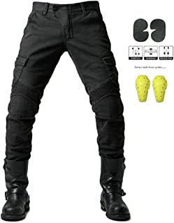 GELing Diseñador Hombres Motocicleta Armadura Textil Pantalones,Negro,L