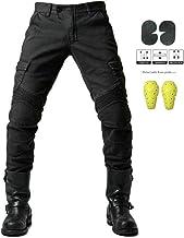 GELing Diseñador Hombres Motocicleta Armadura Textil Pantalones,Negro,2XL