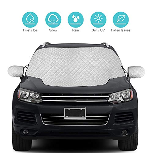 IMCROWN 140x90CM Car Rear Windshield Snow Cover Windscreen Snow Cover Windshield Snow Cover Sun-Proof Windshield Case for Summer Winter Use Frost Guard Protector Ice Cover