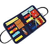 Busy-Board para Niños, Juguetes Sensoriales De Bebé Habilidades De Vida Básicas Tablero Montessori, Juguetes Montessori para Niños De 1-6 Años, 32 X 28 X 22.6 CM