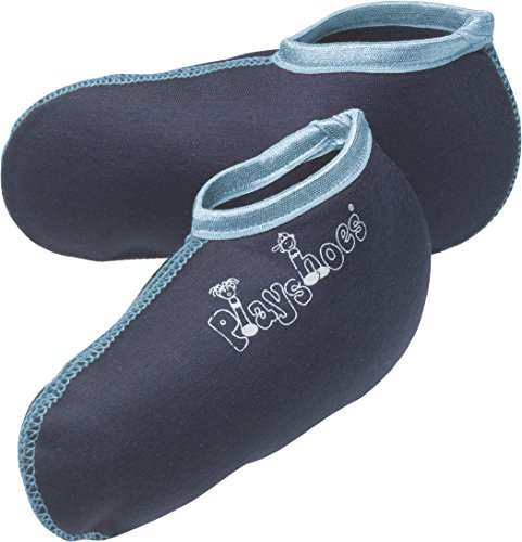 Playshoes Unisex Kinder Stiefel-Socke Füßling, Blau (marine/hellblau), 18-19 EU