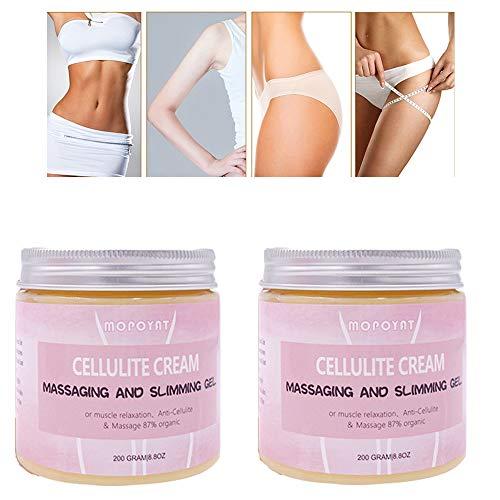 2pcs Cellulite Creme Weight Loss Massage Schlankheitscreme Body Shaping Anti Cellulite Cremes Es hat hervorragende Auswirkungen auf dünne Taille, Beine, Arme und Straffen Bauch