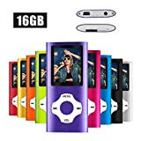 MYMAHDI MP3/MP4 Music Player with 16GB Memory Card(Expandable Up to 128GB),Supporting Photo Viewer,Voice