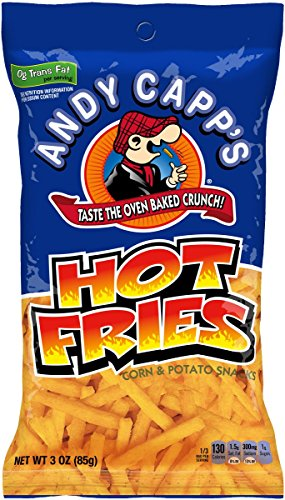 Andy Capp's Hot Fries, 3 Oz, 7 Pack
