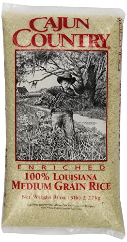 Cajun Country Medium Grain Rice, 5 Pound