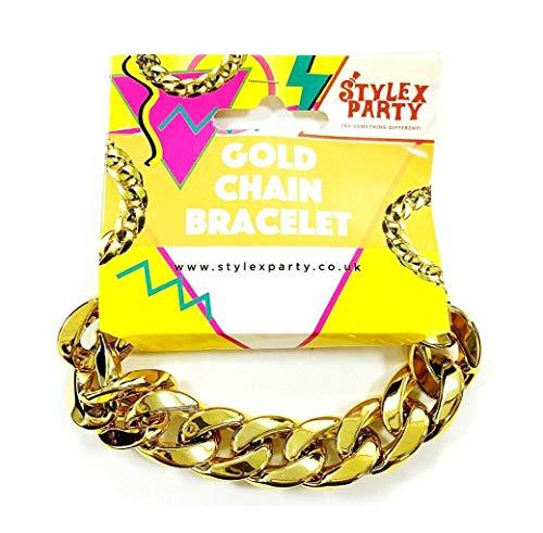 Stylex Party Ltd nep gouden ketting armband mooie jurk jaren 1980 kostuum dikke ketting gangsta