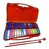 Xilófono de 25 Notas con Estuche, Colorido Instrumento de percusión, Juguete Musical con afinación Clara, 2 mazos Seguros para niños, Instrumento Educativo Perfectamente afinado para niños