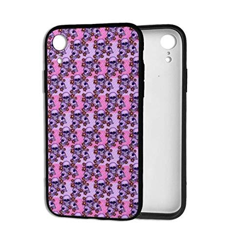 Stanley Gissing Carcasa para iPhone XR con diseño de flamencos de ciervo, antiarañazos y a prueba de golpes, parte trasera de policarbonato suave de TPU para iPhone XR de 6.1', color morado
