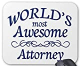World's Most Awesome Attorney Mousepad Non-Slip Natural Rubber Mouse Mat