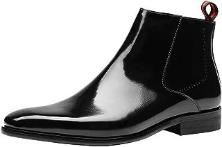 Hommes Cheville Robe Bottines Chelsea à Enfiler Fermeture Éclair Bottes à Lacets en Cuir High Top shoes