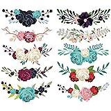 kaluo 10 pz/set bellissimi fiori ferro su patch per trasferimento di calore fai da te vestiti t-shirt adesivi termici decorazione stampa