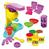 Juguetes de arcilla de colores Casa de juegos para niños Simulación de helados de bricolaje Fabricación de máquinas de arcilla de colores Seguro y no tóxico Divertido rompecabezas de juguete