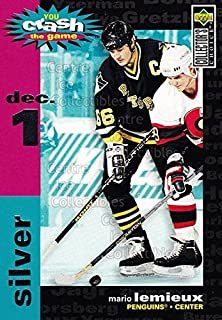 (CI) Mario Lemieux Hockey Card 1995-96 Collectors Choice Crash The Game (base) 25B Mario Lemieux