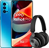 """OPPO Reno 4 Pro 5G – Smartphone de 6.5"""" (Snapdragon 765G, 4000mAh con carga 65W, Android 10) Azul + Auriculares Bang&Olufsen H4"""