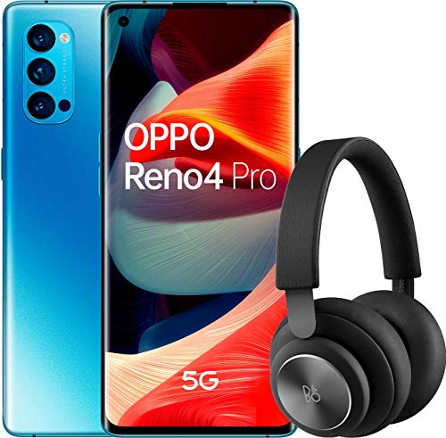"""OPPO Reno 4 Pro 5G – Smartphone de 6.5"""" (Snapdragon 765G, 4000mAh con carga 65W, Android 10) Azul + Auriculares Bang&Olufsen H4 [Versión ES/PT]"""