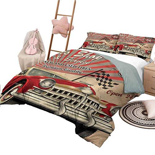Nomorer Quilt Set mit Bettwäsche Twin Size Cars Tagesdecken Tagesdecke Repait Shop und Service