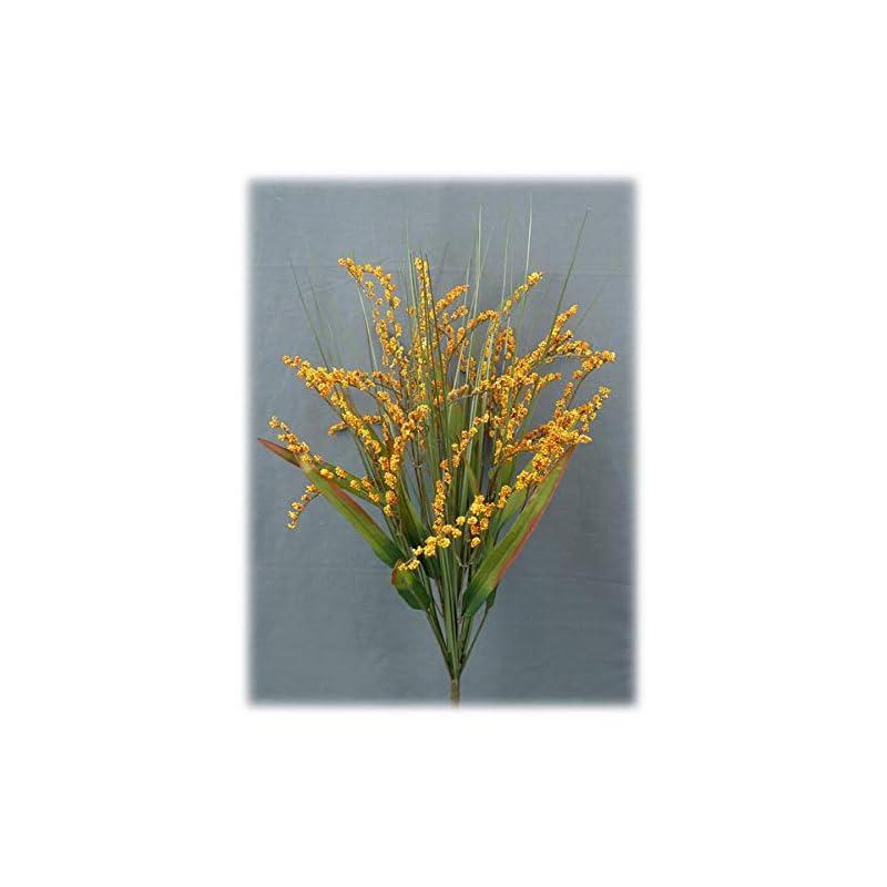 """silk flower arrangements liberty artificial foxtail grass fall spray - 24"""" (orange/yellow)"""