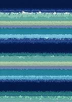 igsticker ポスター ウォールステッカー シール式ステッカー 飾り 841×1189㎜ A0 写真 フォト 壁 インテリア おしゃれ 剥がせる wall sticker poster 012200 ボーダー 青 水色