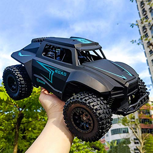 wangch RC  Buggy  4WD 1/12 Bigfoot Off-Road Stimbation Car Drift Remote Control Remoto 2.4G Modelo Recargable Coche Adultos y niños (Color : Negro)
