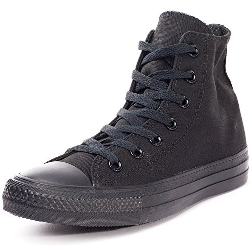 Converse Unisex Chuck Taylor All Star High Top Black Monochrome Shoes, 12 B(M) US Women / 10 D(M) US Men