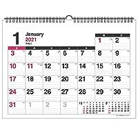 壁掛カレンダー【2021年 1月始まり】A3 ホワイト CK-56