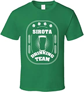 Sirota Drinking Team St. Patrick's Day Last Name Group T Shirt