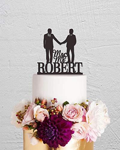 Bruidstaart Topper, Gay Cake Topper, Zelfde Sex Cake Topper, Mr en Mr Cake Topper, Aangepaste Cake Topper, Last Name Cake Topper, Unieke Cake Topper