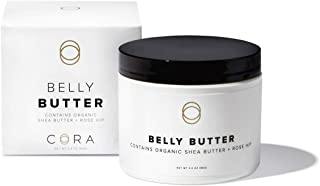 Cora Belly Butter Made with Whipped Organic Shea Butter & Rose Hip - Non-Greasy Pregnancy Skincare to Help Increase Skin Elasticity (3.4oz)