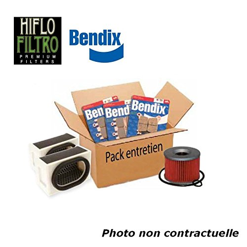 Bihr - Pack Entretien Compatible Suzuki Gs500E 89-95 (Filtres Air Et Huile + Plaquettes Avant Et AR)