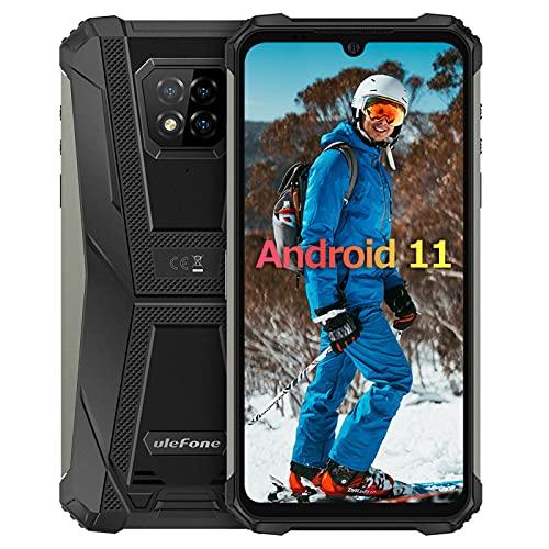 6Go+128Go Android 11 Smartphone Incassable,Octa-Core Ulefone Armor 8 Pro Écran 6,1 Pouces IP68 / IP69K étanche Antichoc, 4G Double SIM OTG/NFC/GPS Telephone Portable Incassable Debloque -Noir