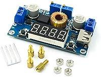 Treedix XL4015 DC-DC降圧モジュール LED定電流ドライブモジュール、バッテリー充電用 電圧計ディスプレイ付き