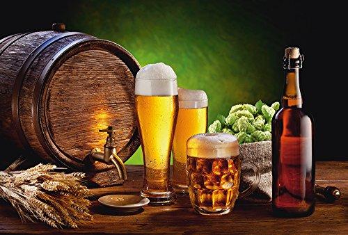 Artland Qualitätsbilder I Wandtattoo Wandsticker Wandaufkleber 90 x 60 cm Ernährung Genuss Getränke Bier Foto Braun D7QQ Bier Stillleben