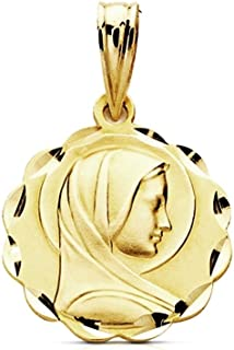 M/édaille pendentif 18k horoscope or Vierge 13mm signe du zodiaque AA7406