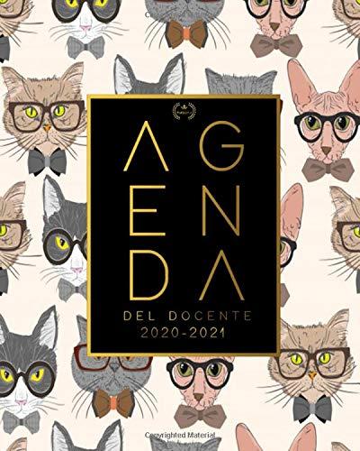 Agenda del Docente 2020 2021: Registro del Professore| Calendario per Insegnant , Agenda Giornaliera 2020 - 2021 | 12 Mesi | Agenda settimanale e mensile, ... | Motivo gatto