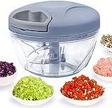 520 ml Handzerkleinerer manuelle Küchenmaschine, Zugschnur zum Schneiden von...