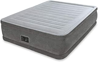 Intex Comfort Plush Air Bed Queen Size with Built-In Electric Air Pump