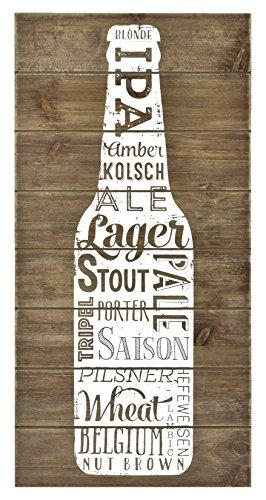 Wood Plank Beer Varieties Wall Art