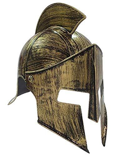 VENTURA TRADING HT4 Casco de Gladiador con Protector Facial mvil Casco Romano Armadura Romana Espartano Griego Casco centuriano Gladiador Antiguo Guerrero Armadura