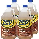 Zep Hardwood & Laminate Floor Cleaner, Brown, 128 fl oz (Pack of 4) (ZUHLF128CT)