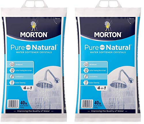 Morton U26624S Pure AND Natural Water Softening Crystals, 40-Pound (Тwo Рack)