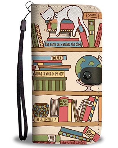 Purrrfect Books Wallet Phone Case