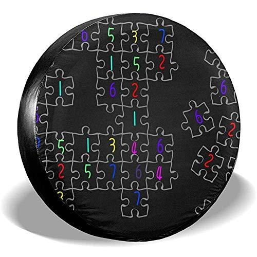 Fall Ing Spare Tire Cover-Universal Wiel Tire Cover Protector-Sudoku puzzel patroon passen voor, Trailer, Rv, Suv en veel voertuig