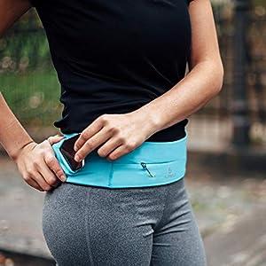 """FlipBelt Running & Fitness Workout Belt, Black, X-Large 35""""-38"""""""