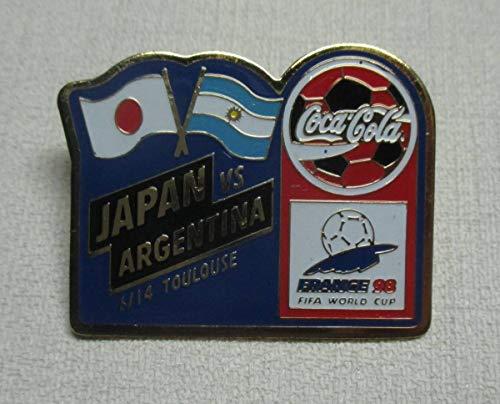 FIFA ワールドカップ フランス1998年 日本 対 アルゼンチン 1998 FIFA World Cup ピンバッジ コカ コーラ Coca Cola ピンズ PIN
