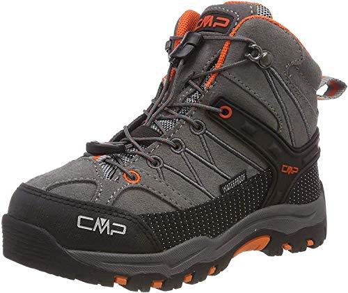 CMP Rigel Mid, Chaussures de Randonnée Hautes Garçon Mixte Enfant, (Stone-Orange 78uc), 32 EU