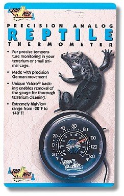 Zoo Med TH-20E analoge reptiele thermometer - voor temperatuurbewaking in het terrarium