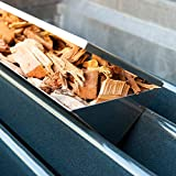 Charcoal Companion Stainless Steel V-Shape Smoker Box For Gas Grill Wood Chips (Long) - CC4066