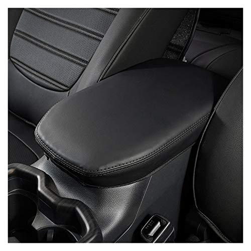 Story Cubierta DE CUCHO DE CUCHE DE LA PU Ajuste para Toyota RAV4 2020 Red/Negro Puntas Cubiertas DE LA Consola Central Ajuste para RAV4 2020 Accesorios (Color : Black)